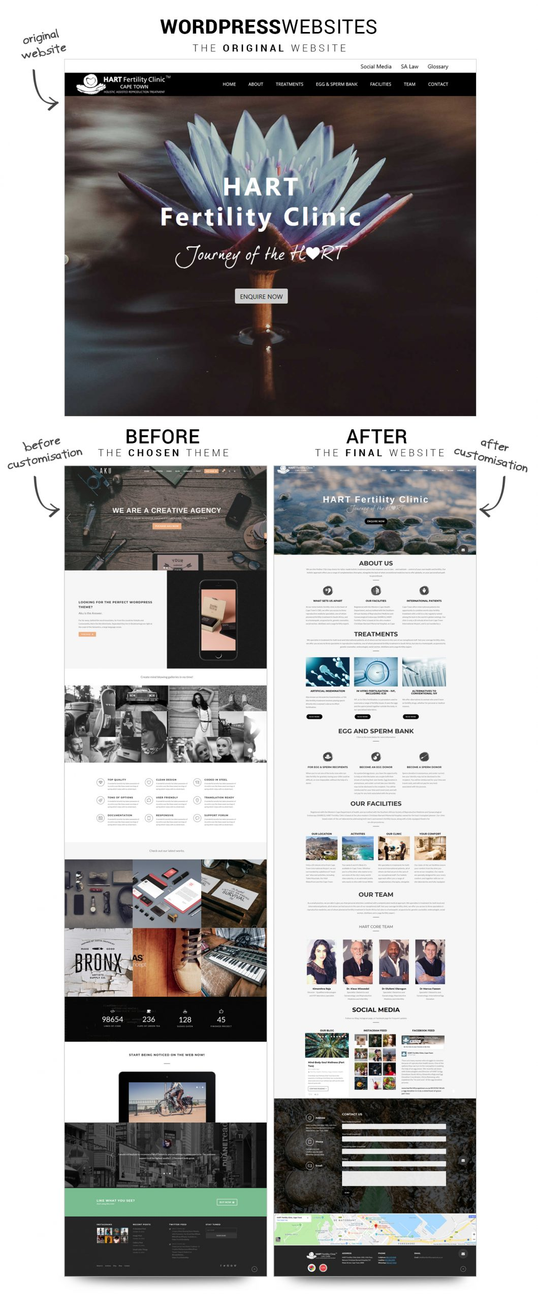 WordPress Websites Before and After