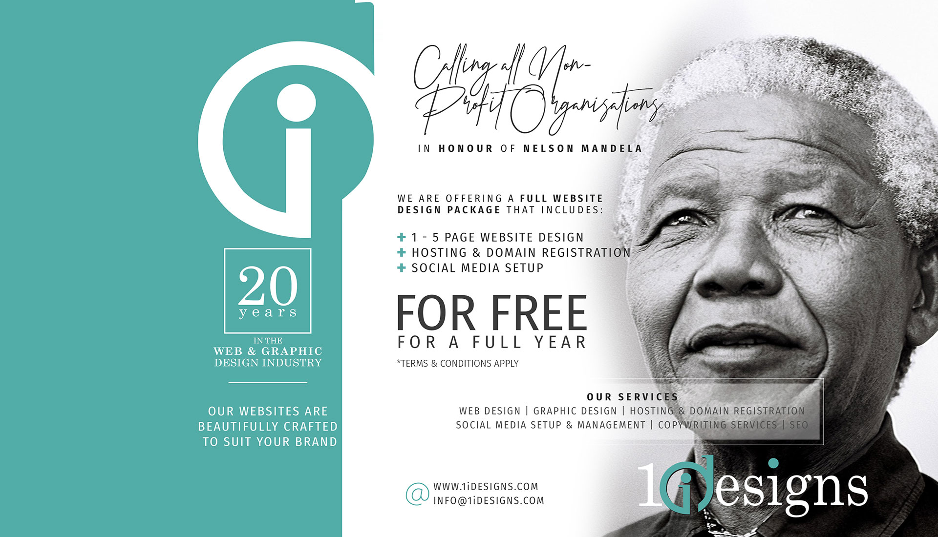 Nelson Mandela FREE Website Giveaway